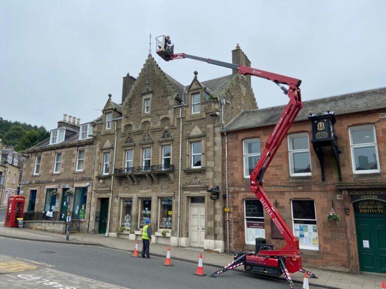 Melrose High Street roof maintenance